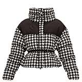 Moncler Cropped Houndstooth Down Jacket