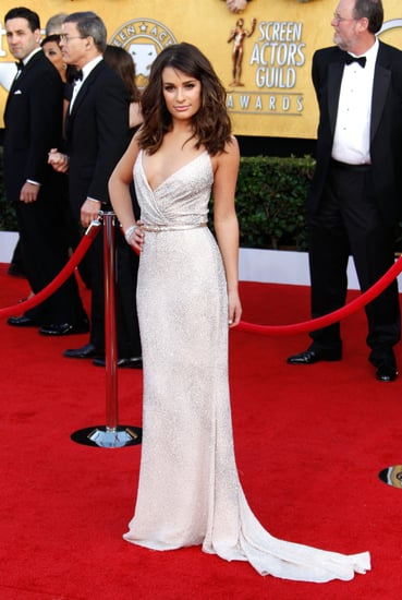Pictures of Lea Michele Arriving in Oscar de la Renta at the 2011 Screen Actors Guild Awards