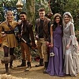 "Saturday, Oct. 20, at 8:30 p.m. local time: Knight Squad (pictured)  ""Fright Knight"": After the Princess defies her father's orders and attends the Party of Darkness, the Shadow Ghost appears and threatens to possess her, so the Phoenix Squad must fight to save their friend.  Sunday, Oct. 21, at 7:00 p.m. local time: Double Dare  ""Electro Eradicators vs. The Twinning Team"": In this Halloween special, friends take on twins in a series of classic challenges with a spooky twist, and only one team gets to compete in the ghostly final round."
