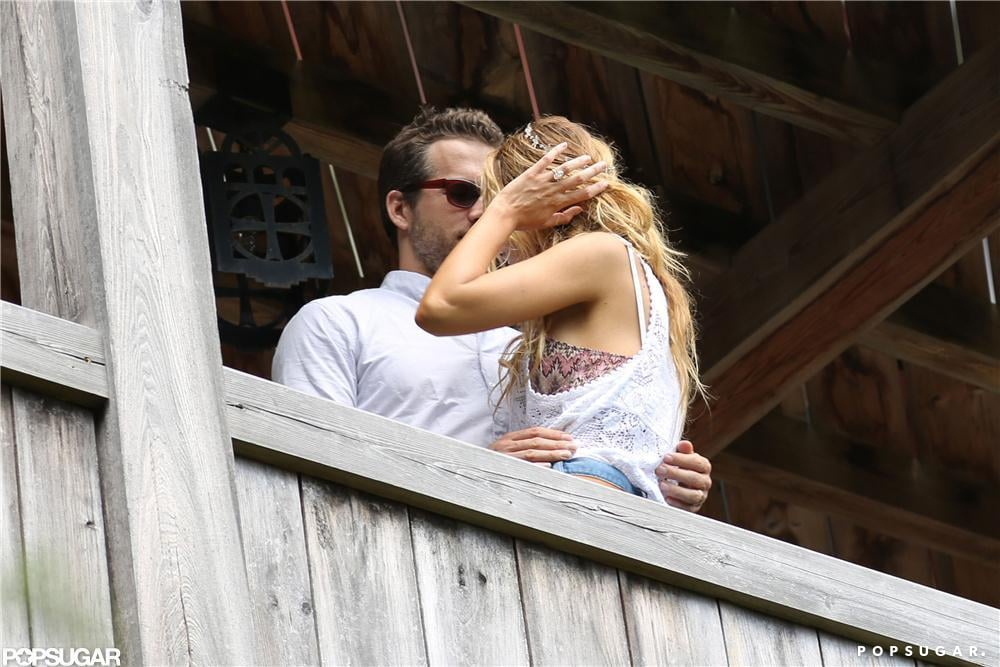 ryan reynolds and blake lively showed pda after their
