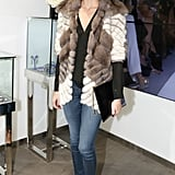 Olivia Palermo at Dennis Basso's flagship grand opening.