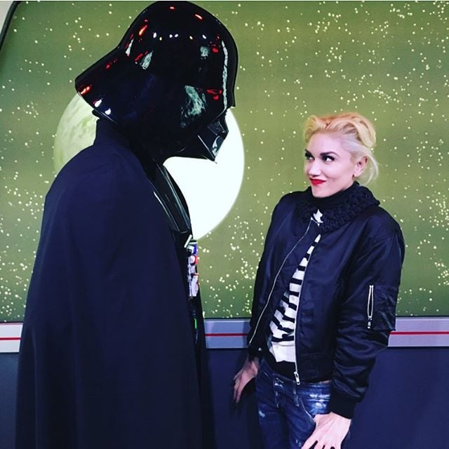 Gwen Stefani and her three boys, Apollo, Kingston, and Zuma Rossdale, spent the day at Disneyland in Anaheim, CA, on Friday. The family toured the park with a guide, checked out the rides, and even stopped to grab churros. The 46-year-old singer also took to Instagram to share fun photos of herself with Darth Vader and Chewbacca.  In the past couple of weeks, Gwen has made a string of fun appearances, from an LA charity event to an afternoon with her children. She also turned heads when she arrived at the American Music Awards, proving that 2015 is her prettiest year yet. Keep reading for more of Gwen's day at the Happiest Place on Earth, and then watch her tell Blake Shelton that she loves him during an interview with Entertainment Tonight.