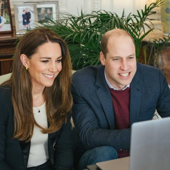 Kate Middleton's Sleek, Straight Hair on Zoom February 2021