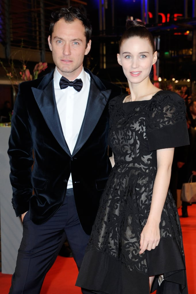 Jude Law looked fierce with Rooney Mara at the Side Effects premiere in Berlin on Tuesday.
