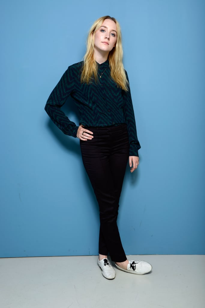 Saoirse Ronan posed for her How I Live Now portrait session at TIFF.