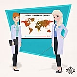 Career-Driven Anna and Elsa: Climate Change Scientists