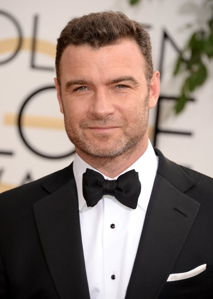 Liev Schreiber and his bow tie heated up the carpet.