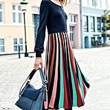 Boden Margie Knit Fit & Flare Midi Dress