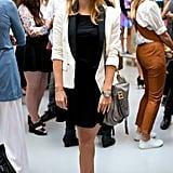 At the Markus Lupfer presentation during London Fashion Week in September 2014.