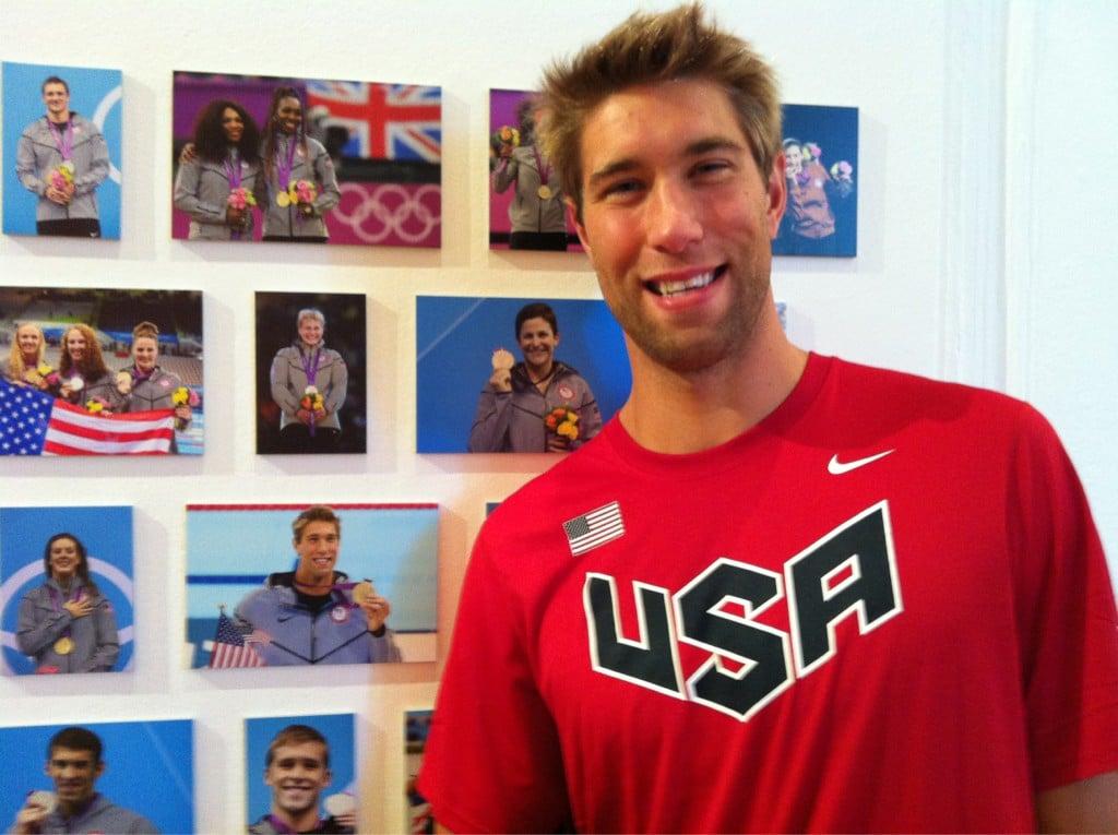 Matt Grevers found a photo of himself inside Team USA's London headquarters. Source: Twitter user MattGrevers
