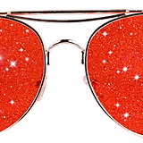 Planet I Space Cowboy Red Sunglasses