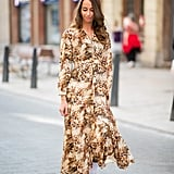 Wear a breezy printed dress with Converse sneakers.