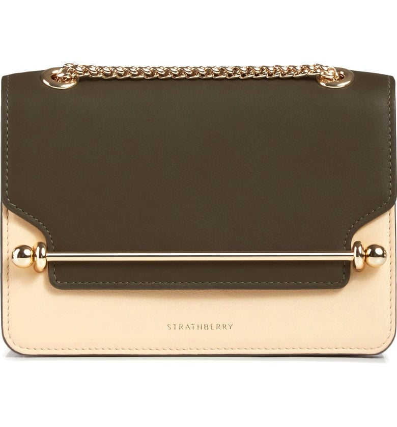 Strathberry Mini East/West Tricolour Leather Crossbody Bag