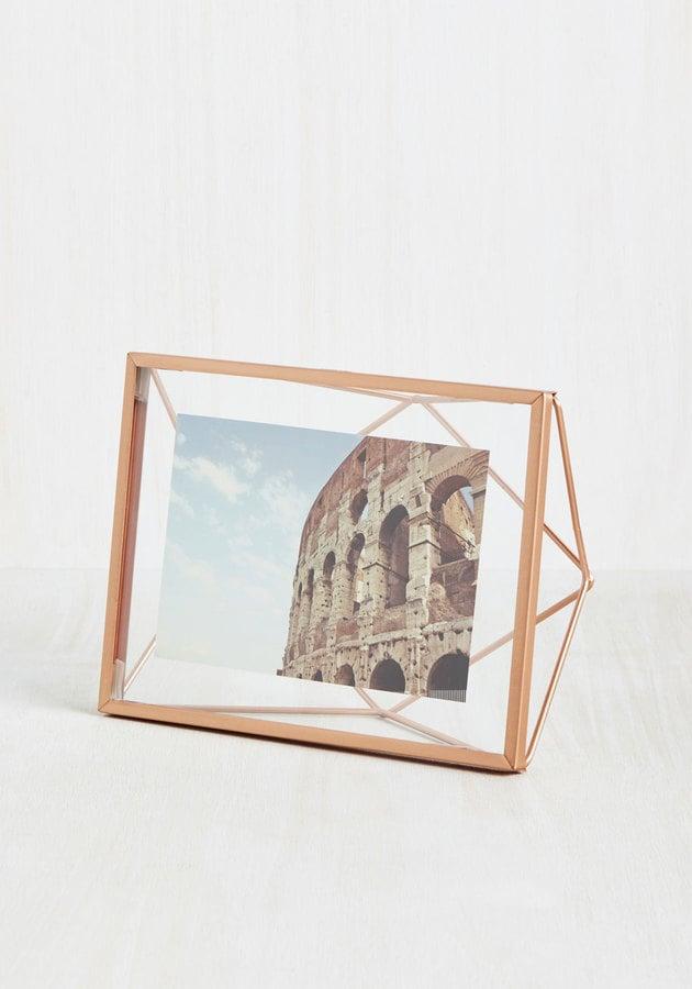 Memorable Dimension Single-Photo Frame in Rose Gold ($18)