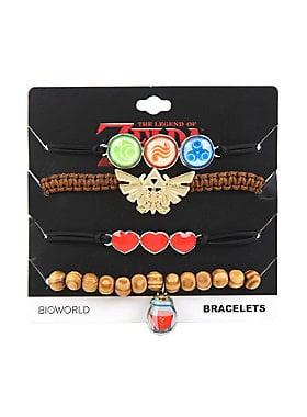 Legend of Zelda Symbols Bracelet Set