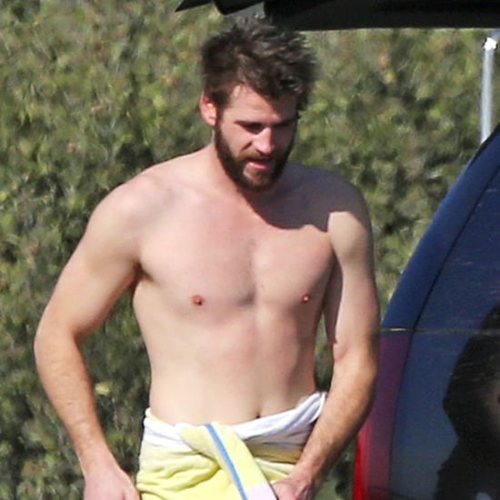 Liam Hemsworth Shirtless in Malibu December 2017