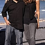 The Click leading lady dressed up her gray ankle-zip skinny jeans with a black tuxedo vest while posing with director Frank Coraci at the San Sebastian Film Festival in October 2006.