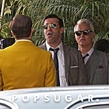 Mad Men stars Jon Hamm and John Slattery got to work in LA.