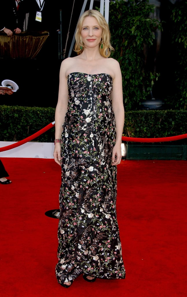 Cate Blanchett in Floral Balenciaga at the 2008 SAG Awards