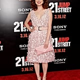 Ellie Kemper looked lovely in pale pink.