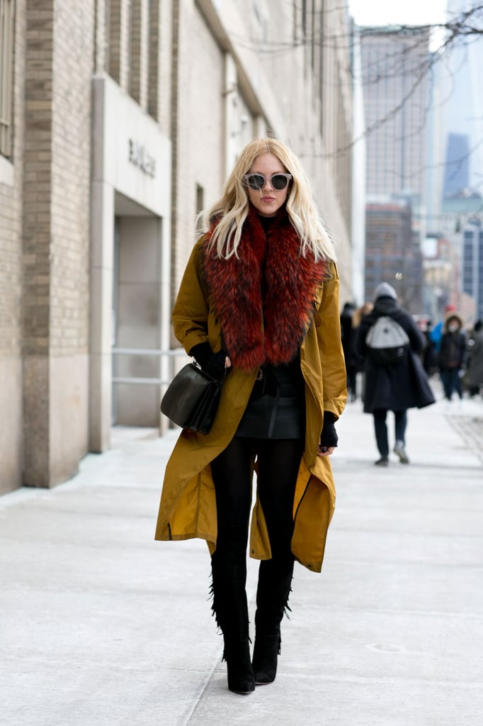Try Tall Boots and a Long Coat