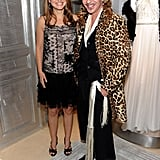 John Galliano worked a leopard print coat whilst he posed with Natalie Portman.