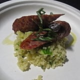 If I weren't totally full, I think I would have enjoyed this lamb merguez sausage and couscous a lot more.