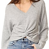 Alexander Wang Deep V Twist Front Sweater
