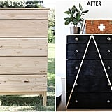 Lidy D. from Hello Lidy fabulously revamped her Ikea dresser with some black paint and tape — get all the instructions here.