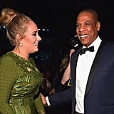 With Jay Z.
