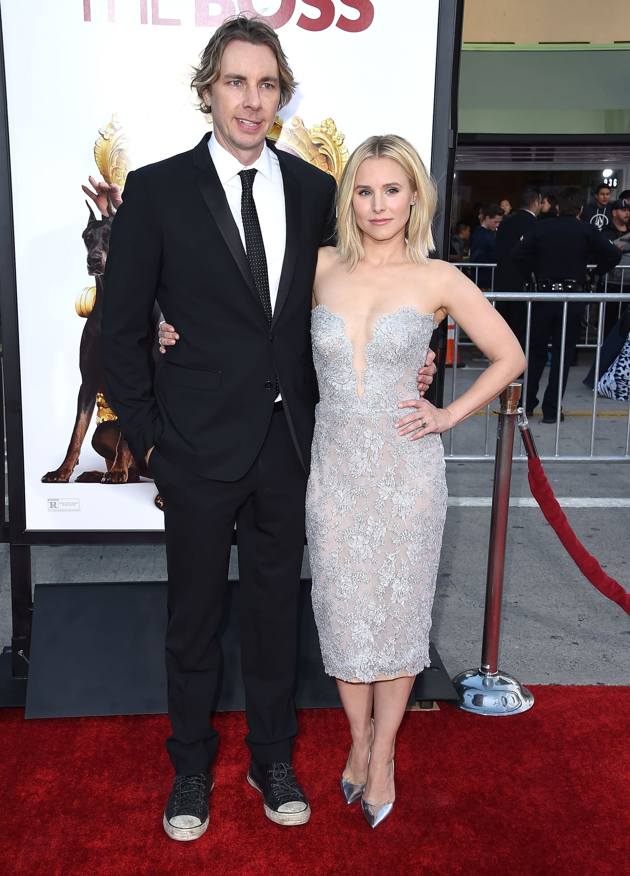 WESTWOOD, CA - MARCH 28:  Dax Shepard and Kristen Bell arrives at the Premiere Of USA Pictures'