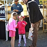 Be Affleck spent some time with his daughters in LA.