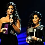 J Woww and Snooki made the trip to Europe for the show.