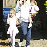Jennifer Garner with Violet and Seraphina in LA.