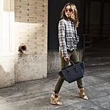 Cargo Pants, Wedges, and a Tweed Blazer