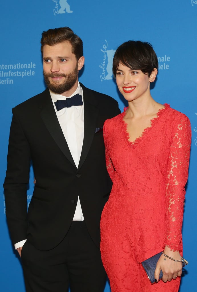 Jamie and his wife, Amelia, posed together.