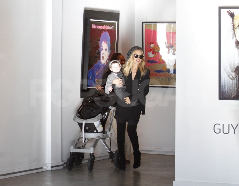 Rachel Zoe checked out work at Guy Hepner gallery in LA.