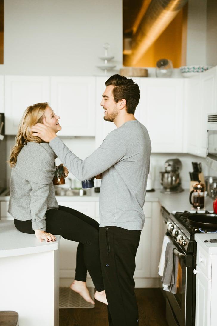 Cozy Apartment Engagement Photo Shoot   POPSUGAR Love ...