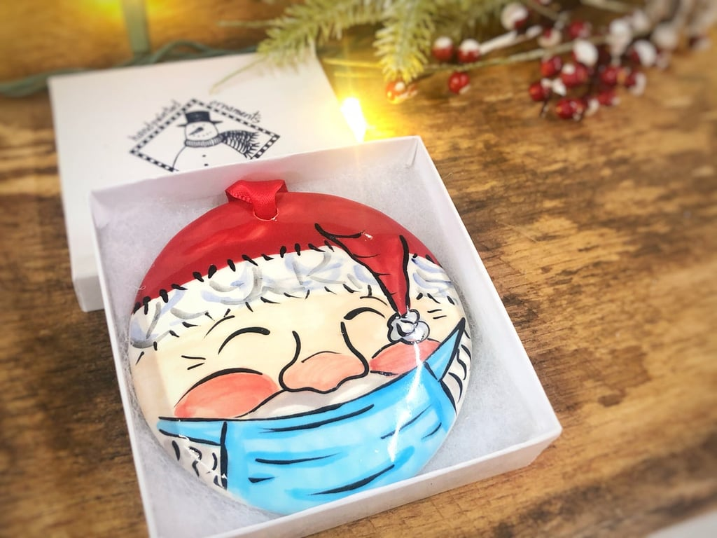 Christmas Ornaments With Face Masks