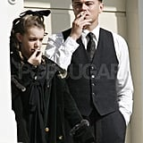 Pictures of Leonardo DiCaprio Filming J.Edgar in LA