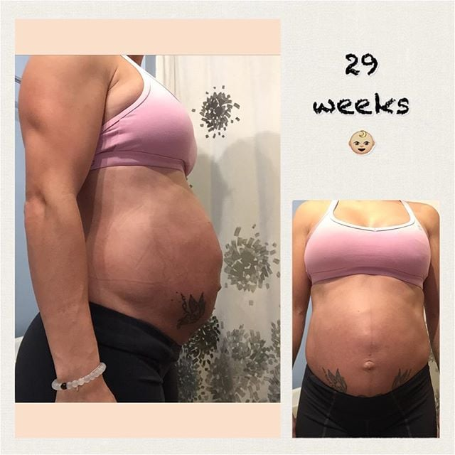 Pregnant Woman With Six Pack Popsugar Family If you don't put on much fat during. pregnant woman with six pack popsugar