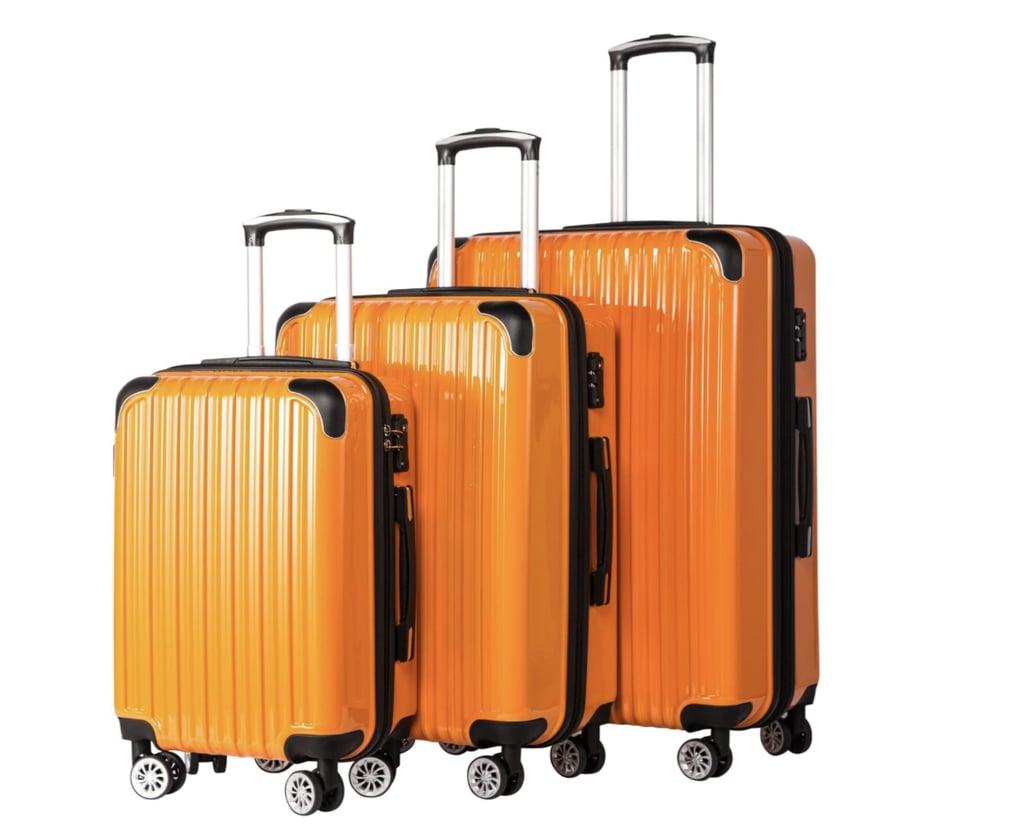 Coolife Luggage Expandable 3-Piece Luggage Set