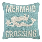 Mermaid Crossing Pillow ($49)