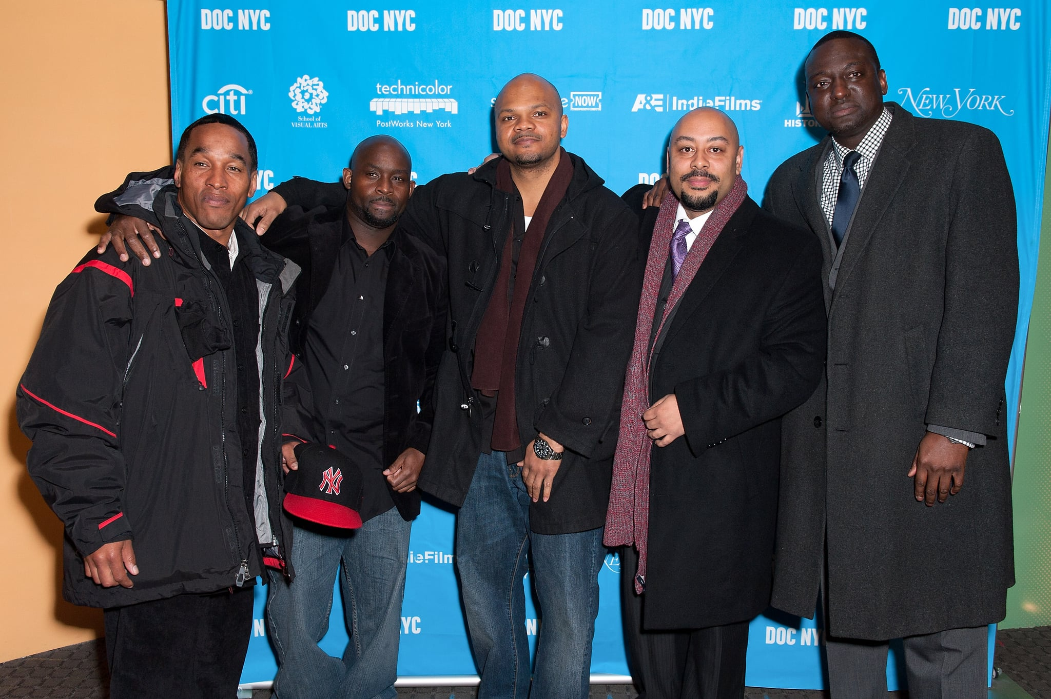NEW YORK, NY - NOVEMBER 15:  (L-R) Korey Wise, Antron McCray, Kevin Richardson, Raymond Santana, and Yusef Salaam attend the 2012 NYC Doc Festival Closing Night Screening Of