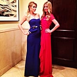 Paris and Nicky Hilton got dolled up for a holiday party. Source: Instagram user nickyhilton
