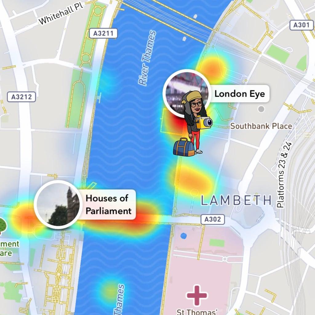 Snapchat Karte.What Are The Different Snap Map Bitmoji Popsugar News