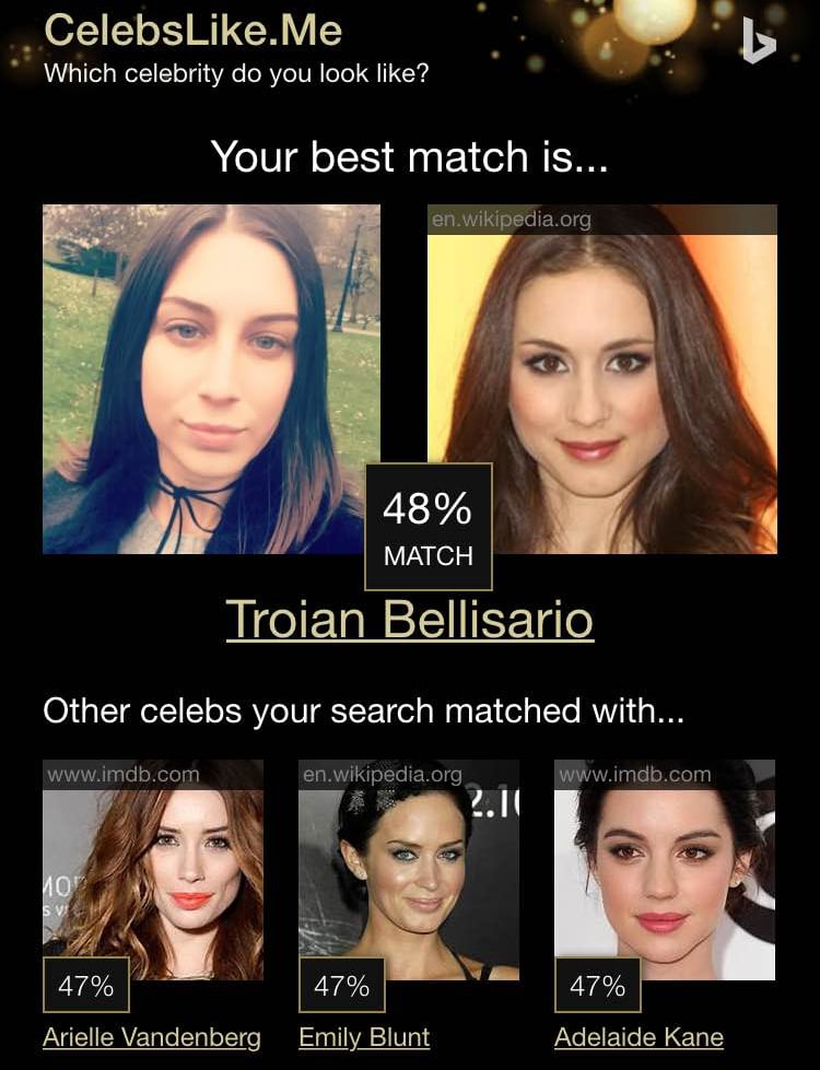 "While celebrity look-alike generators aren't a particularly new realm, this one has left the internet — and the POPSUGAR offices — either nodding in agreement or shaking their heads in disbelief. Little is known about CelebsLike.me, which takes your selfies and finds which celebrities you resemble and by how much, percentage-wise. Even though the generator isn't always accurate — and can change with each photo you send of yourself — it's still just plain fun. Also, let it be known that we tried it on our pets — for ""research"" purposes, of course — to no avail. See what all the buzz is about by checking out some of our results and then trying it out yourself!"