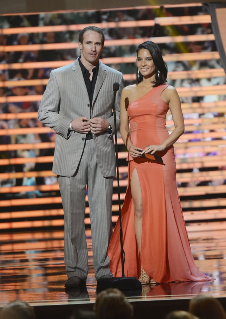 NFL player Drew Brees and Olivia Munn presented together at the 2nd Annual NFL Honors ceremony in New Orleans Saturday night.