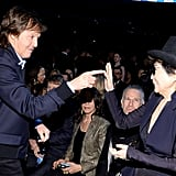 Paul McCartney and Yoko Ono shared a little moment in 2014.