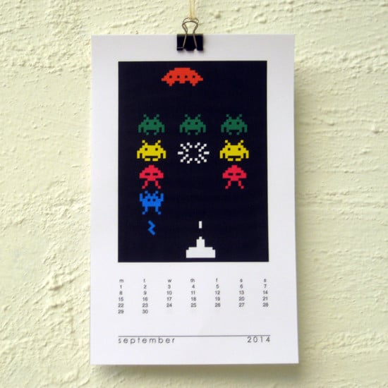 Space Invaders Calendar